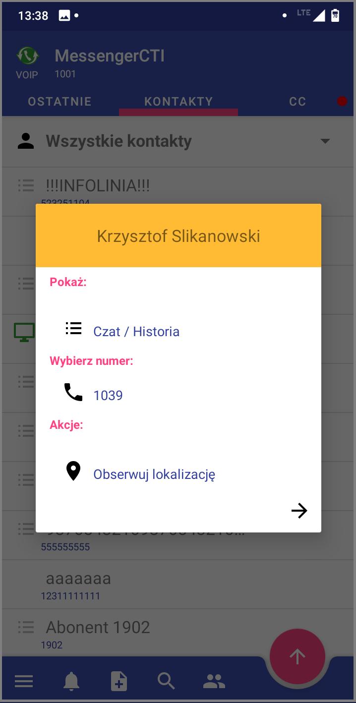 MessengerCTI.mobile 1.07 Połaczenie wychodzące.png
