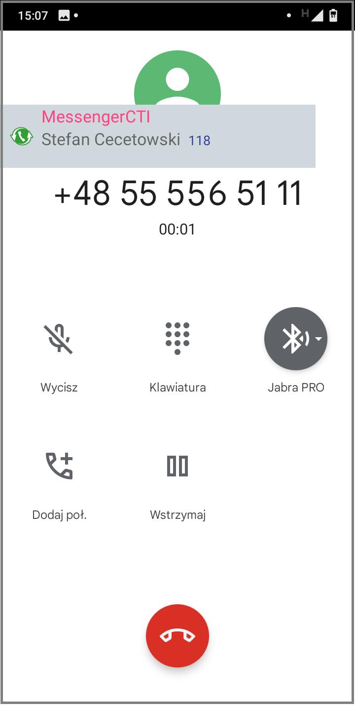 MessengerCTI.mobile 1.07 Rozmowa przychodząca GSM 2.png