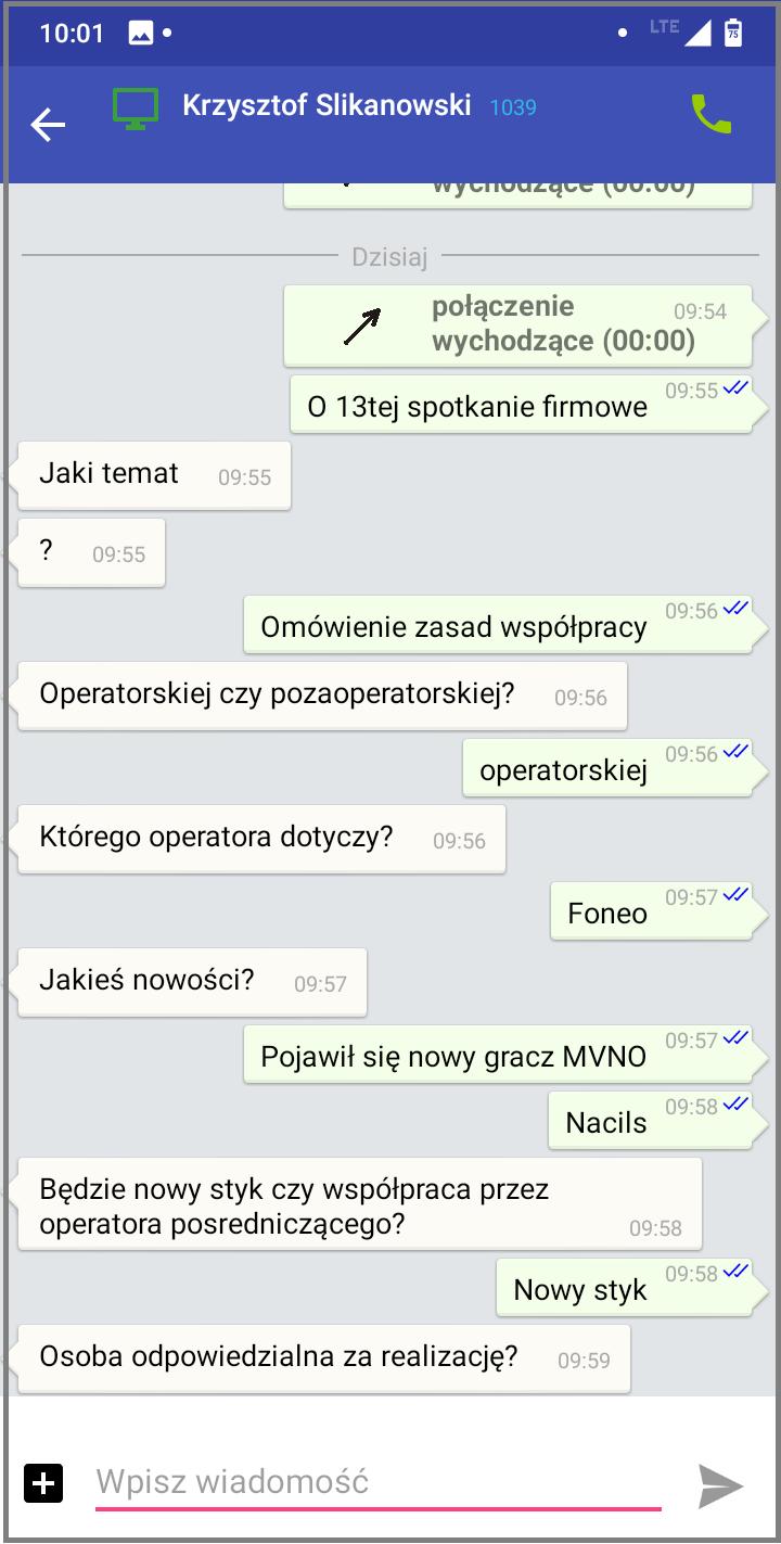 MessengerCTI.mobile 1.07 Czat.png