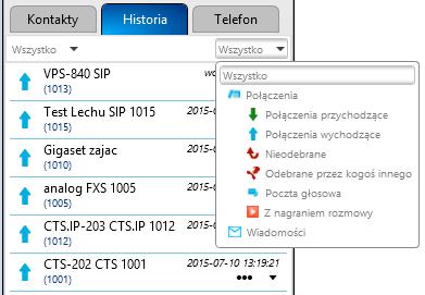 PhoneCTI - Okno zakładek - Historia.png